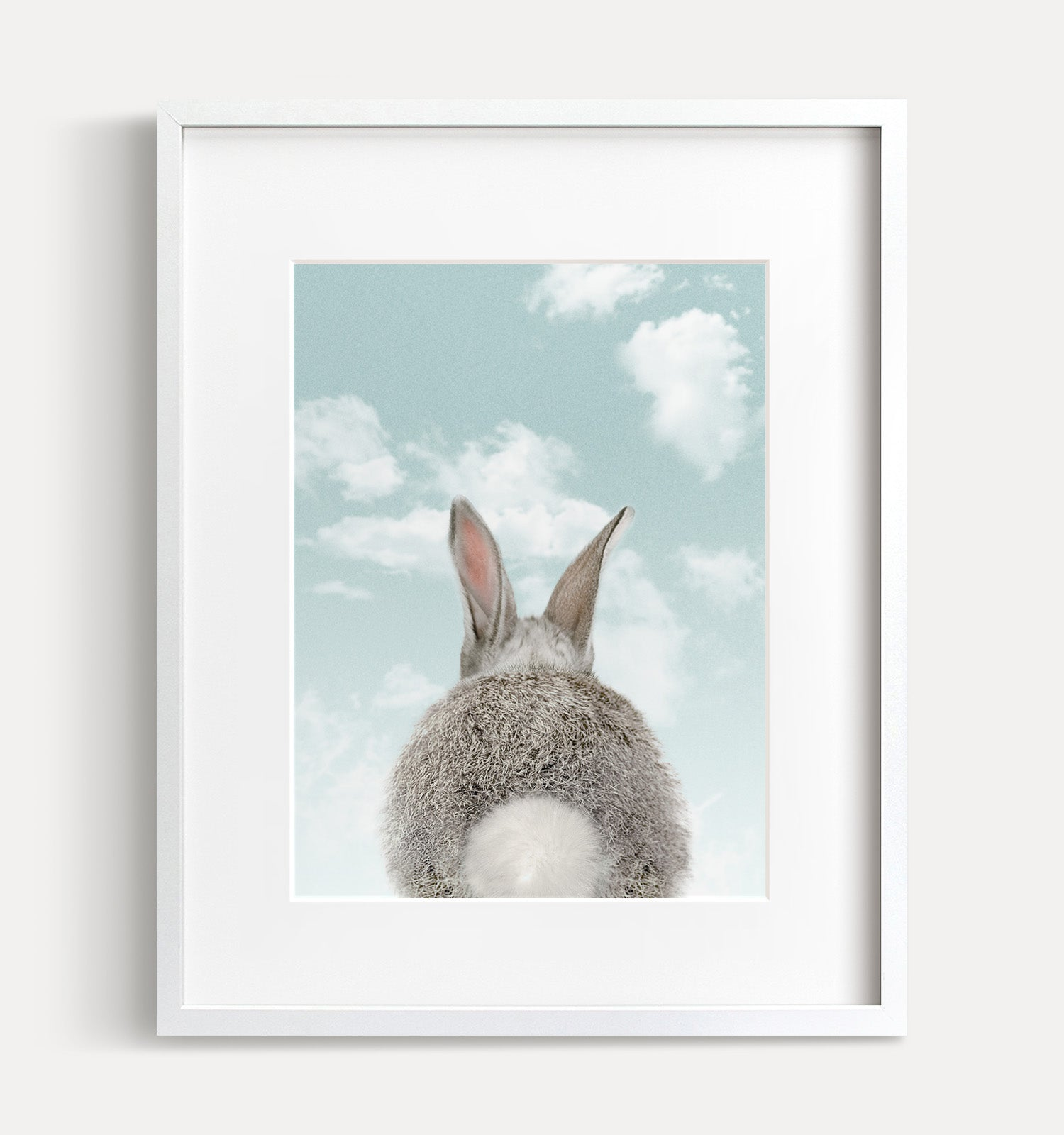 Baby Rabbit Bum with Blue Sky Printable Art