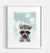 Baby Raccoon with Blue Sky Printable Art