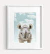 Baby Rhino with Blue Sky Printable Art