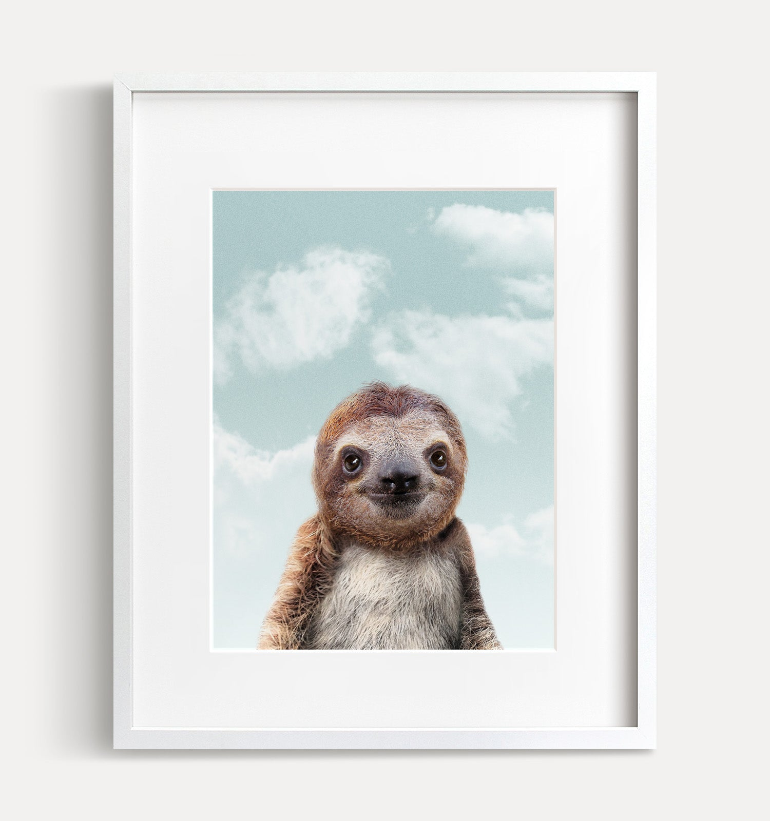 Baby Sloth with Blue Sky Printable Art