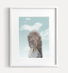 Baby Squirrel with Blue Sky Printable Art