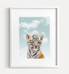 Baby Tiger with Blue Sky Printable Art