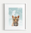 Baby Tiger with Blue Sky No. 1 Printable Art