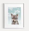 Baby Wolf with Blue Sky Printable Art
