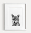 Baby Wolf Black and White Printable Art
