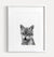 Baby Wolf Printable Art - Black and White