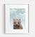 Baby Wombat with Blue Sky Printable Art