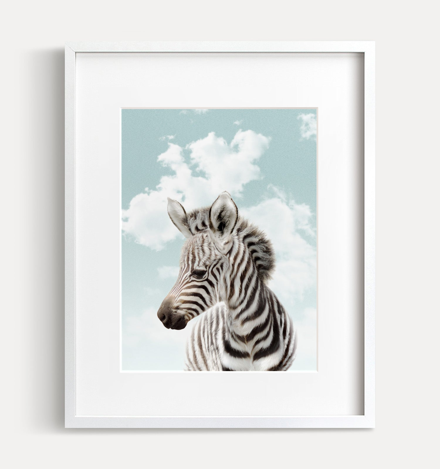 Baby Zebra with Blue Sky Printable Art
