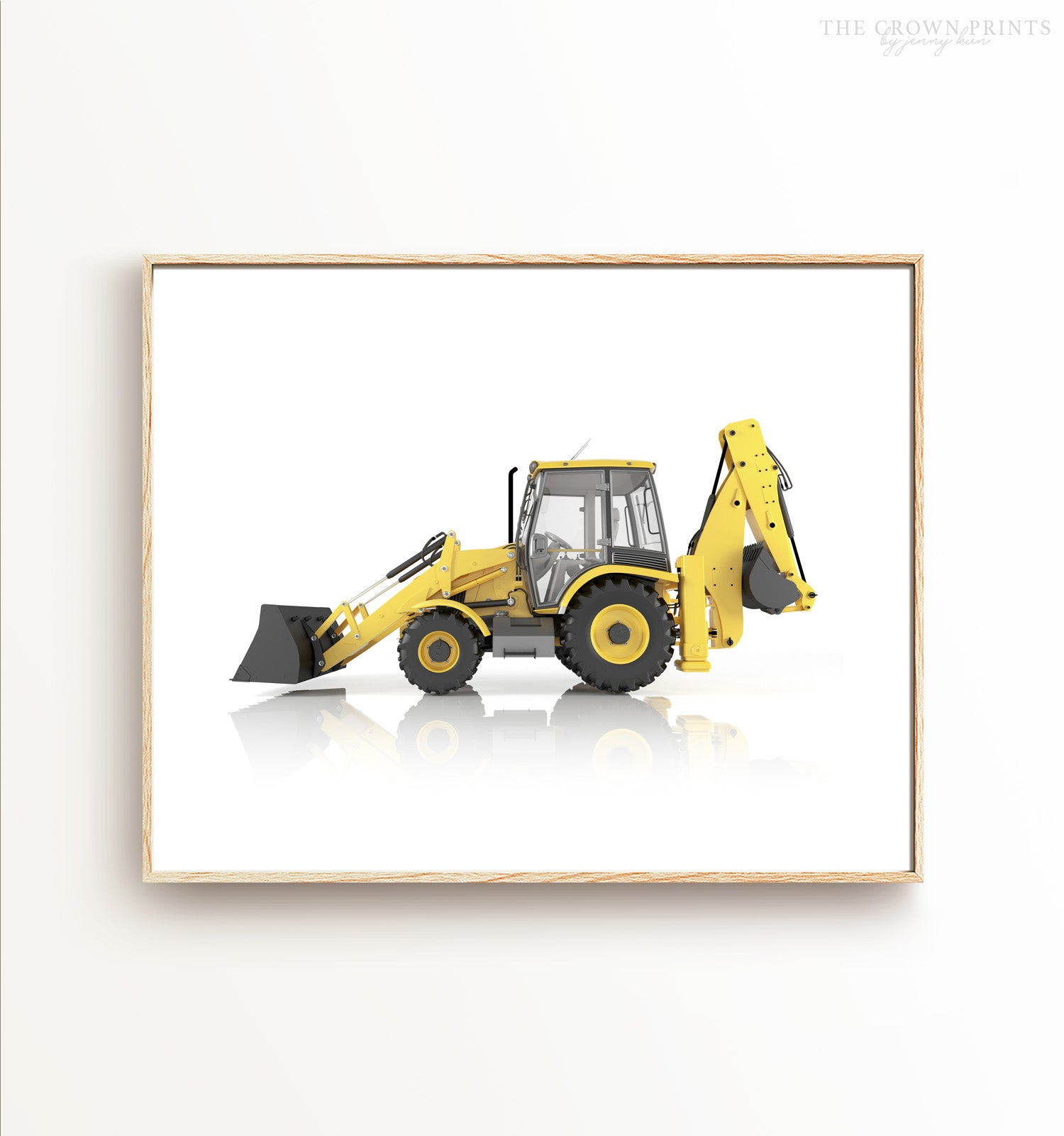 Backhoe Printable Art