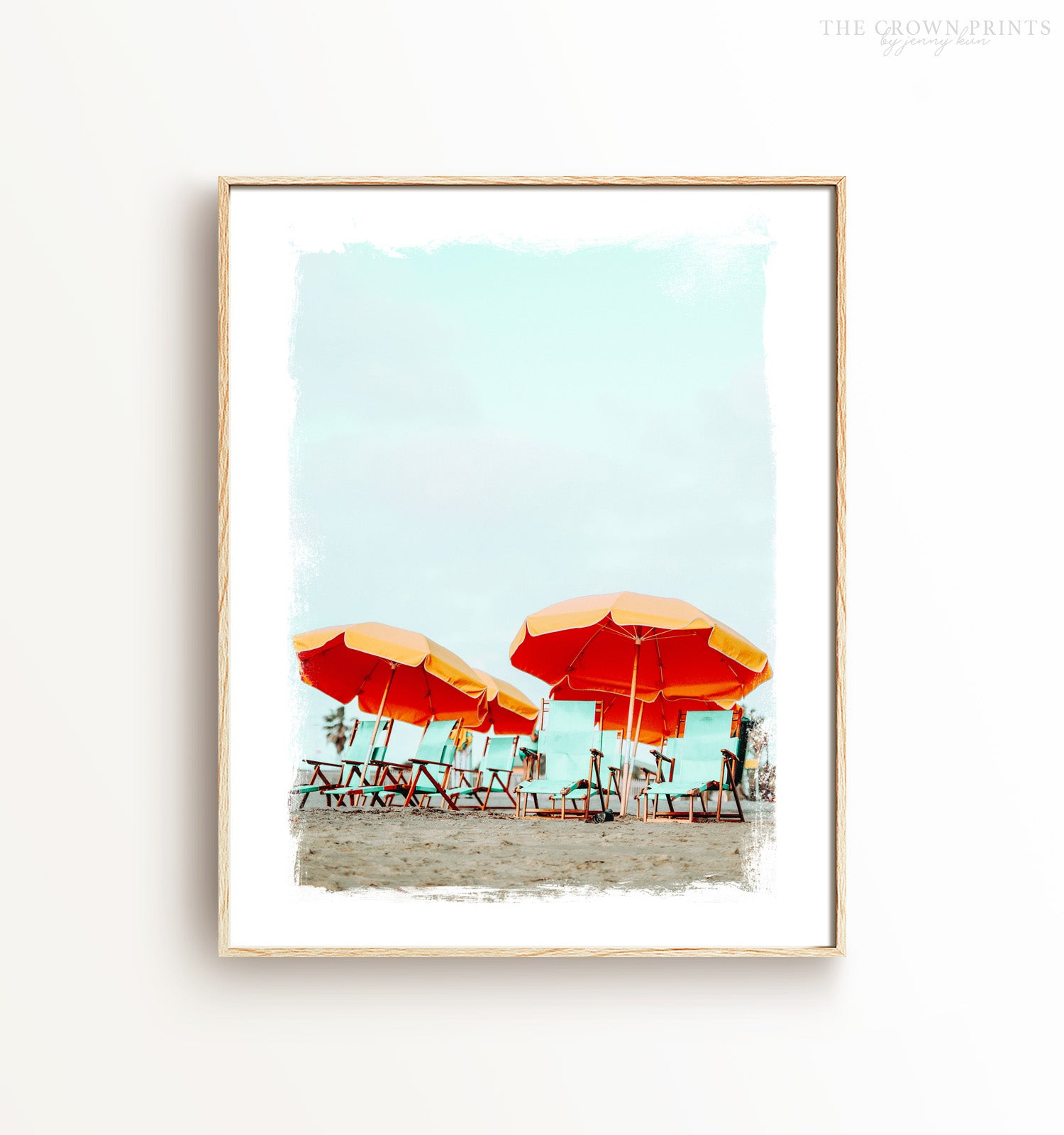 Beach Umbrellas Print