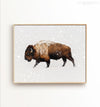 Buffalo in Snow Printable Art