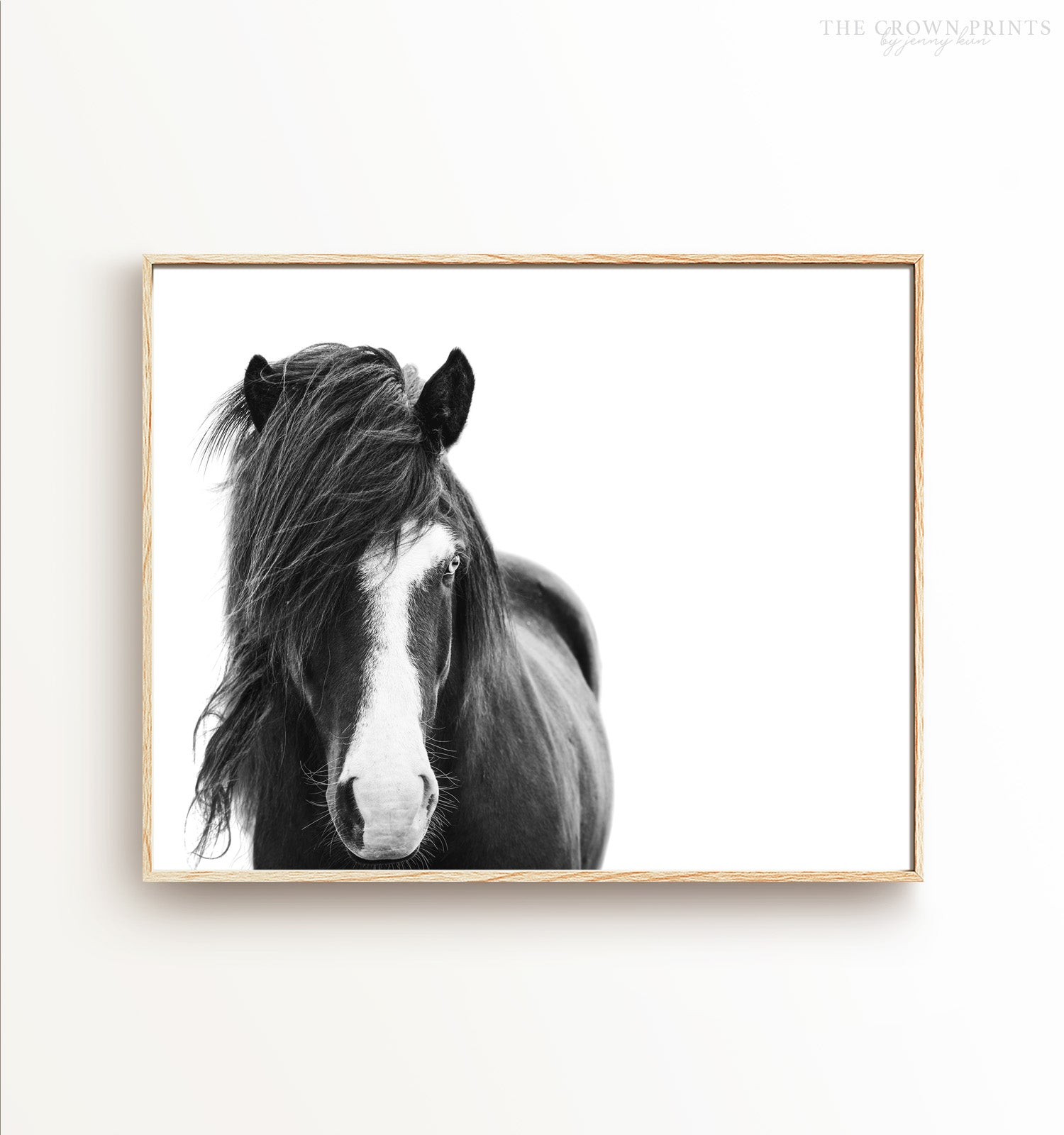 Black & White Icelandic Horse Printable Art