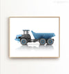 Blue Dump Truck Printable Art