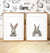 Baby Rabbit Printable Art - Heads and Tails - Set of 2