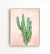 Cactus on pink textured background Printable Art