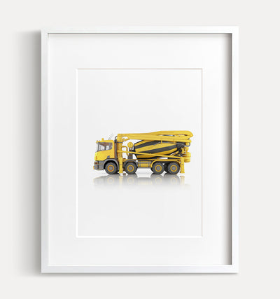 Concrete Mixer Truck Printable Art - Vertical