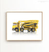 Concrete Mixer Truck Printable Art