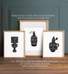 Bathroom gallery wall art - set of 3