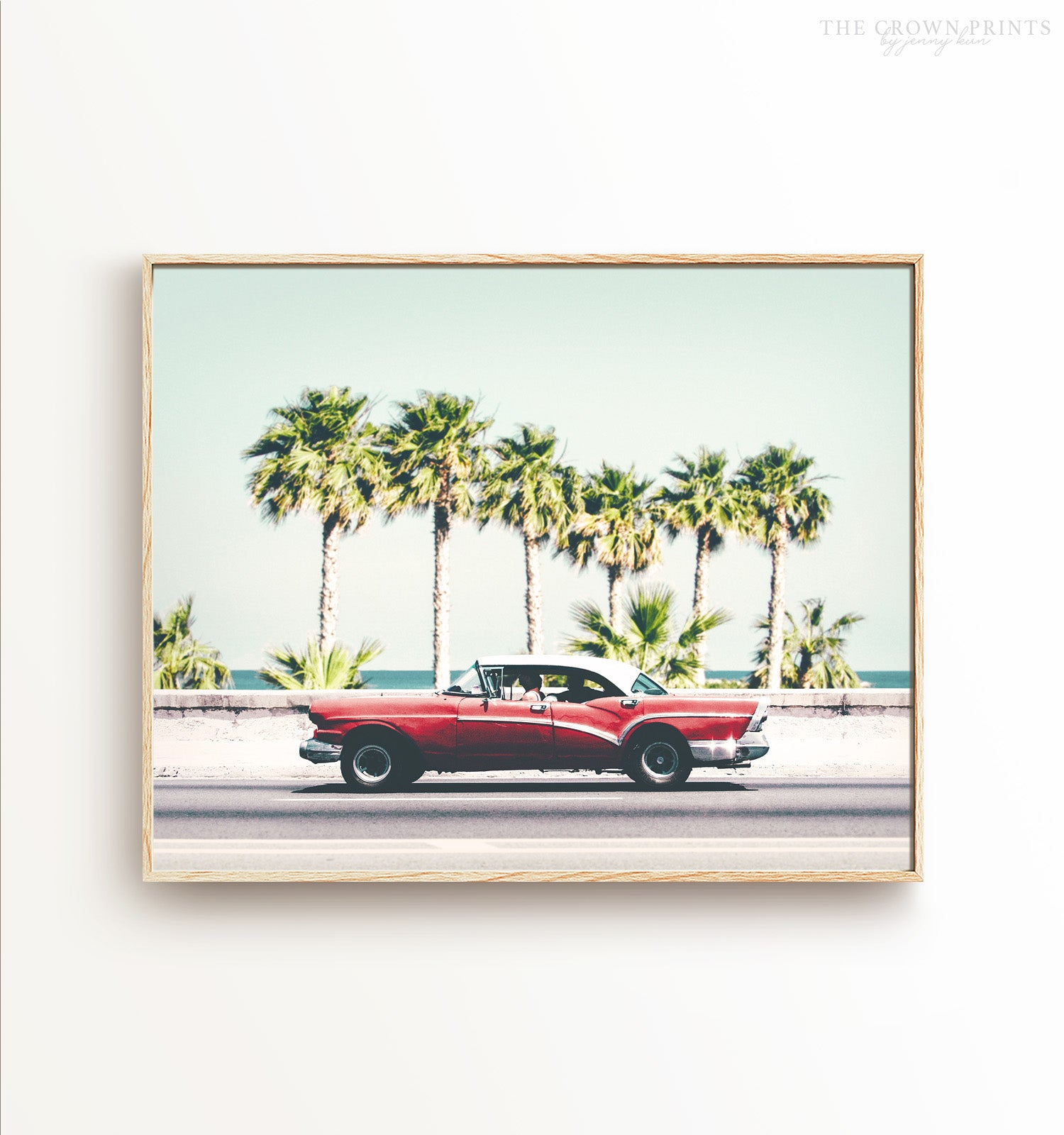 Abstract Watercolour Vintage Classic Car Wall Art Canvas Print Picture A2 A1 A0