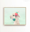 Decorated Llama (landscape orientation) Printable Art