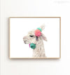 Decorated Llama (white background, horizontal) Printable Art