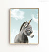 Baby Donkey with Blue Sky Printable Art