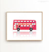 Toy Car: Double Decker Bus Printable Art