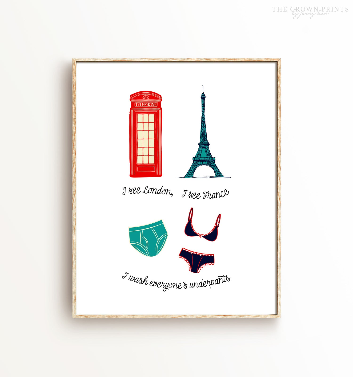 I See London Laundry Room Decor Printable Art (vertical)