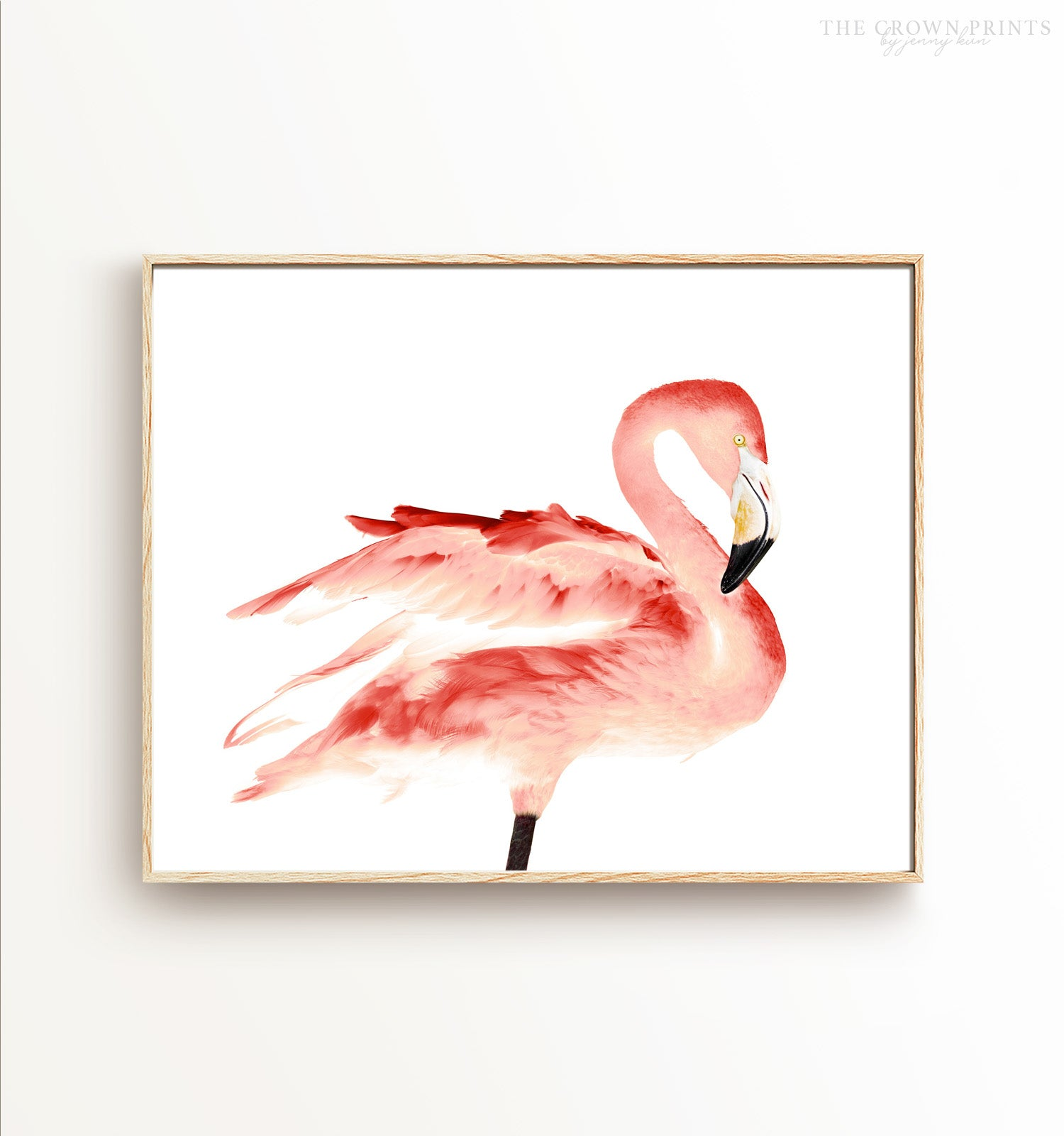 Illuminated Flamingo Printable Art