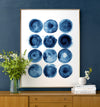 Indigo Blue Abstract Art No. 3 Printable Art