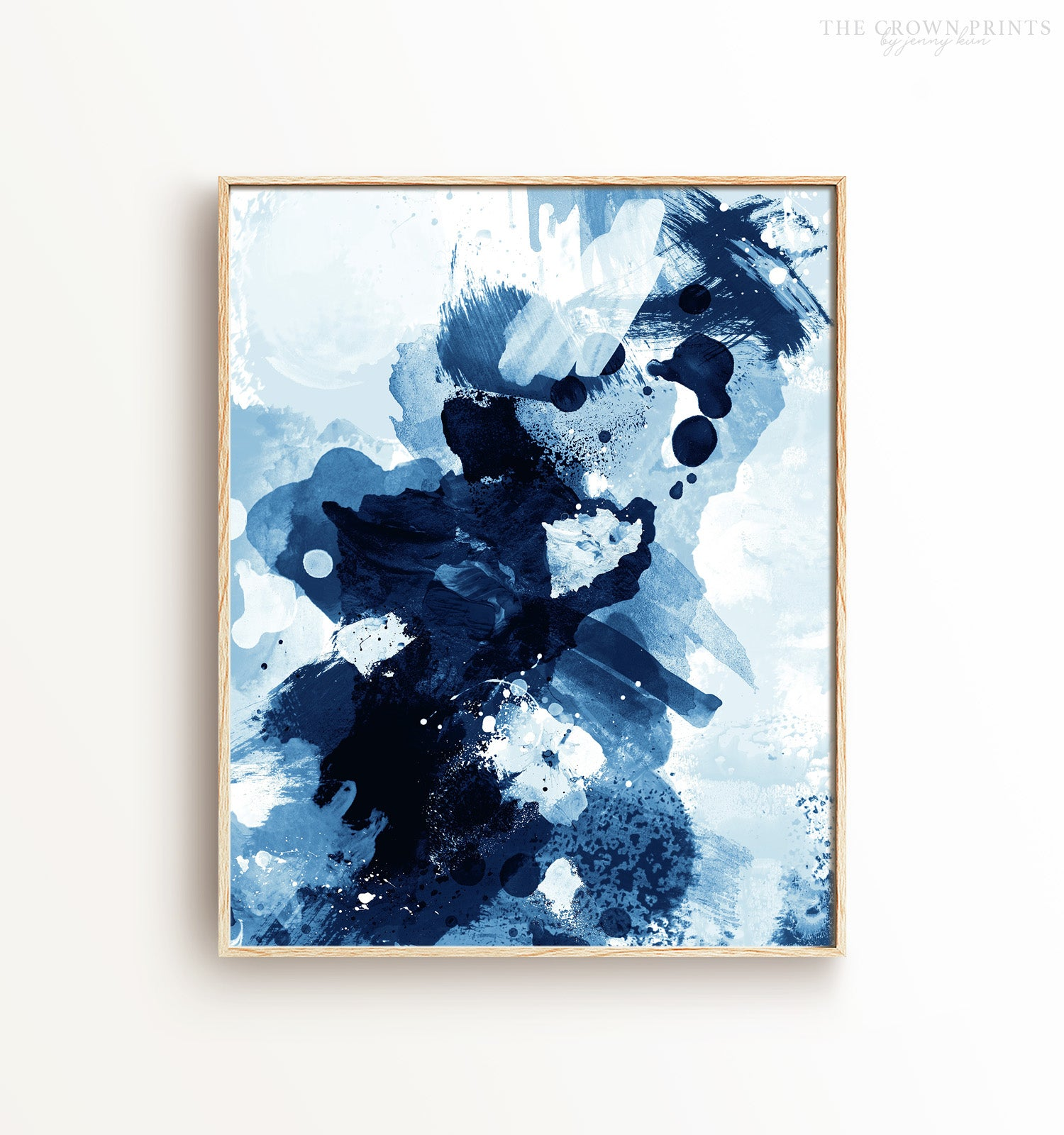 Indigo Abstract No. 2 Printable Art
