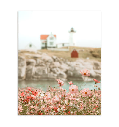 Lighthouse Wildflowers Printable Art