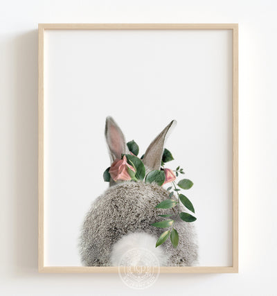 Bunny rabbit nursery decor - flower crown animals