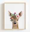 Baby Deer with Flower Crown Print - The Crown Prints
