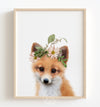Baby Fox with Flower Crown Print - The Crown Prints