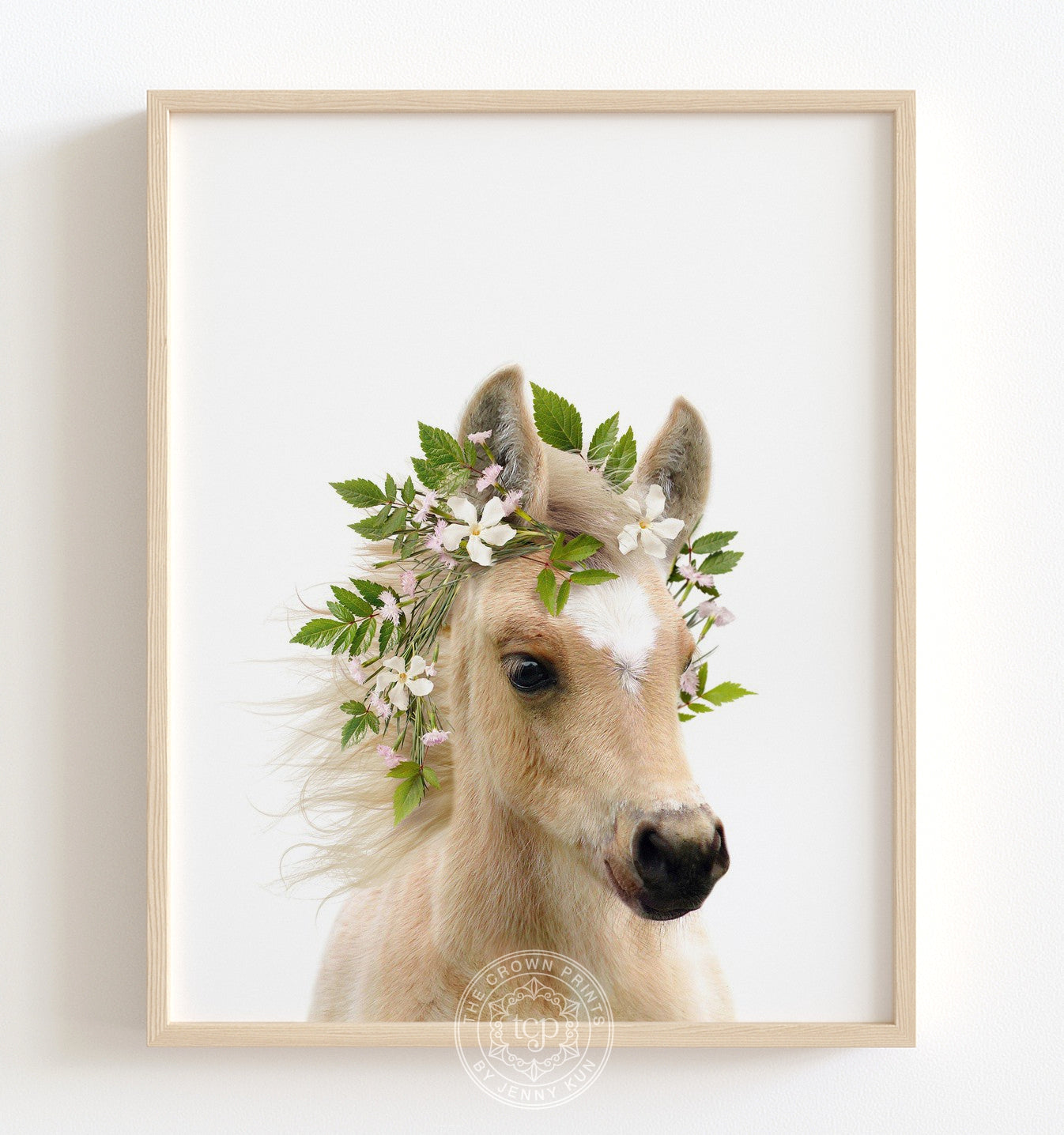 Baby Horse With Flower Crown And Blue Sky Print The Crown Prints