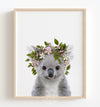 Baby Koala with Flower Crown Printable Art
