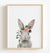 Baby Rabbit with Flower Crown Printable Art