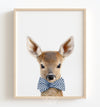 Baby Deer with Cornflower Blue Bow Tie Printable Art