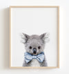 Baby Koala with Cornflower Blue Bow Tie Printable Art