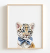 Baby Tiger with Cornflower Blue Bow Tie Printable Art