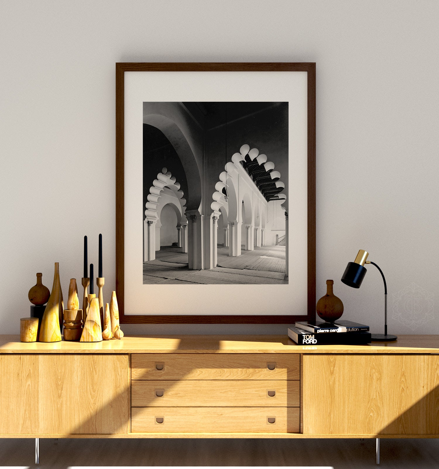 Morocco Arches No. 2 - Black and White Printable Art