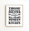 Those Who Talk Politics ... Printable Art