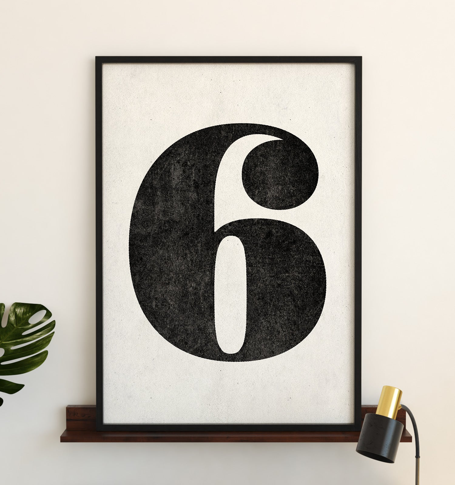 Number Six Printable Art (White)