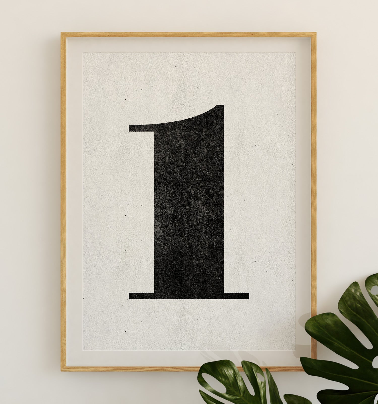 Number One Printable Art (White)