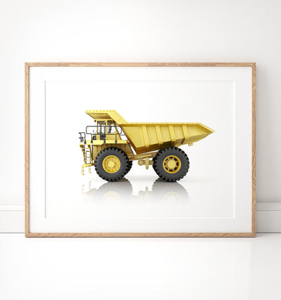 Construction Vehicles Prints - Set of 6 - The Crown Prints