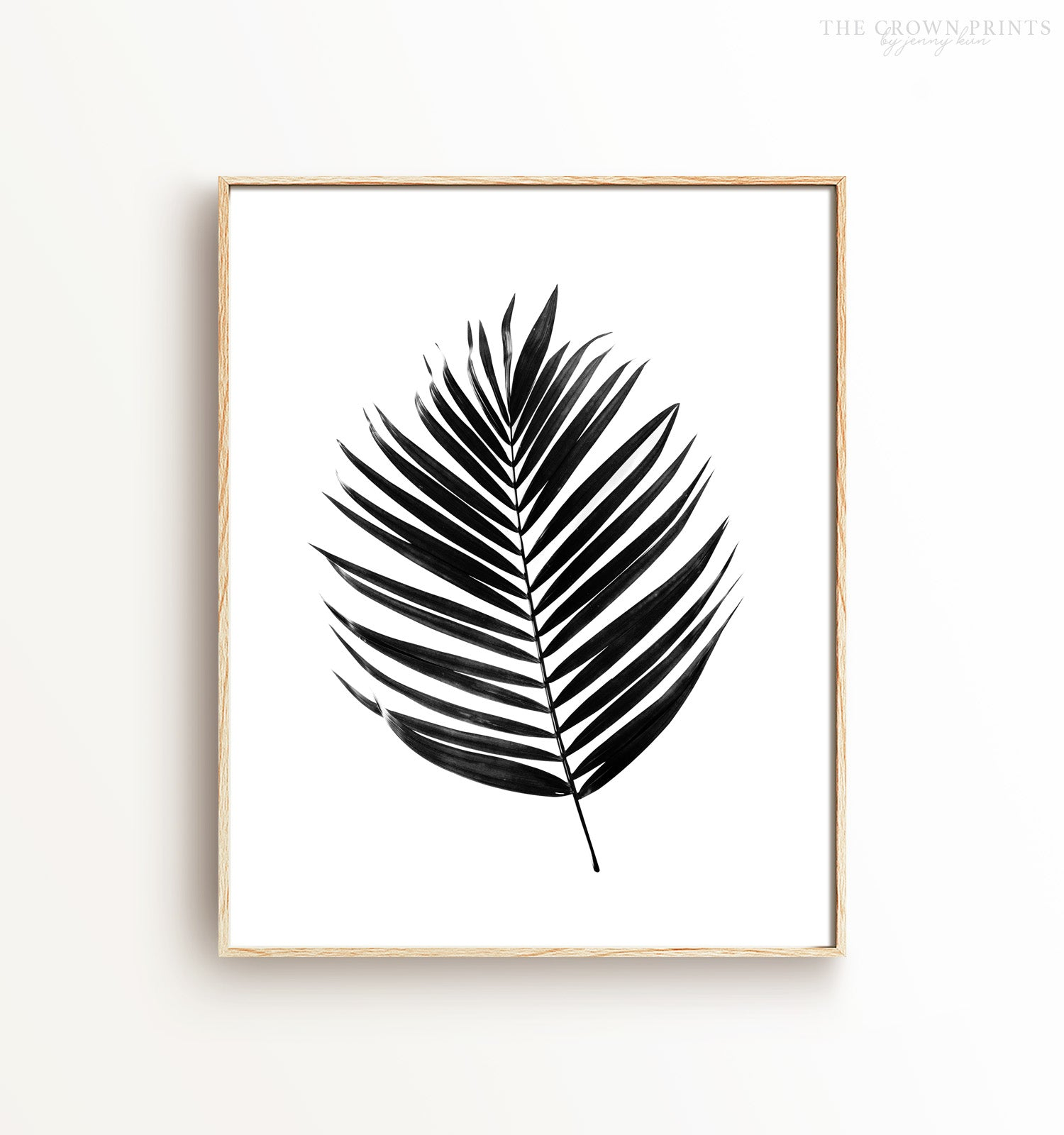 graphic regarding Palm Leaf Printable called Palm leaf - black and white Printable Artwork