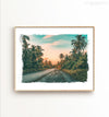 Palm Tree Jungle  - horizontal - Printable Art