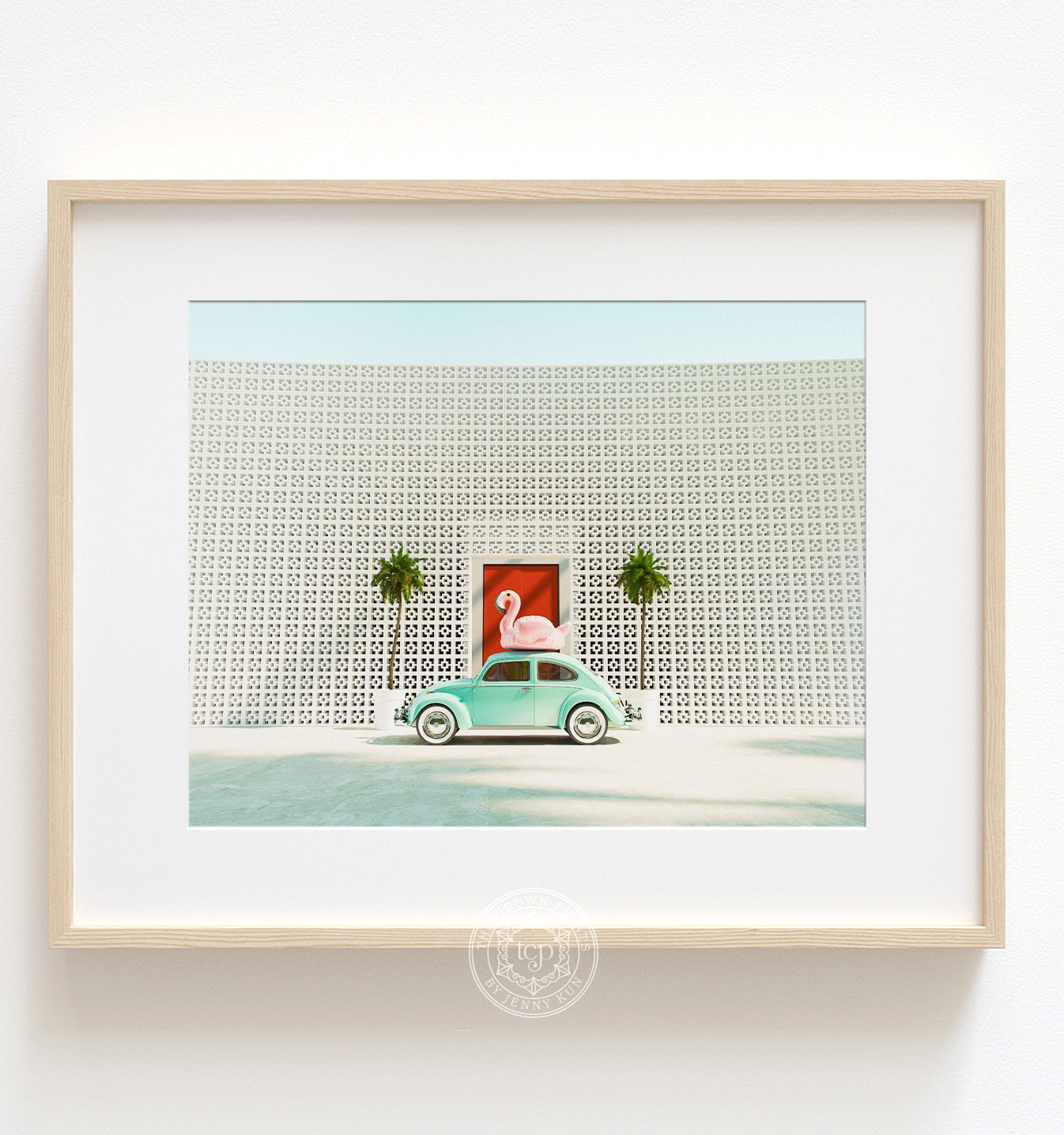 A Beetle and a Flamingo at The Parker Horizontal Printable Art