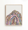 Pastel Abstract Geode Printable Art